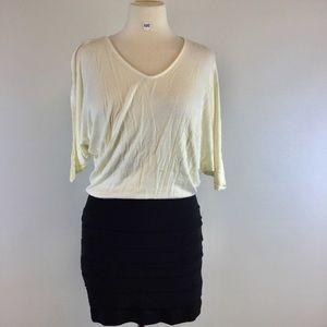 Lola Cream & Black Designer dress B-100